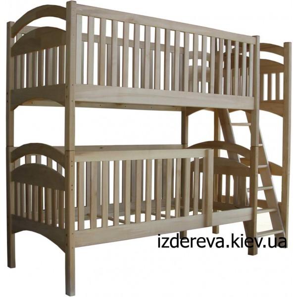 """Деревянная двухъярусная кровать """"манеж"""""""