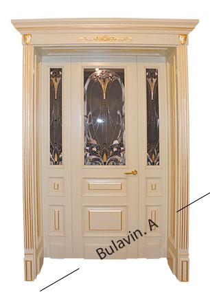дерев'яні двері на замовлення